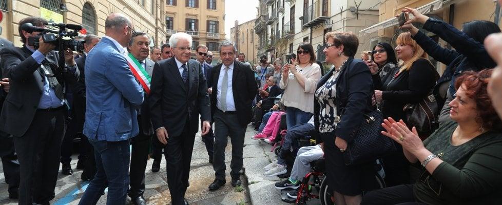 Mattarella incontra i disabili a Palermo$