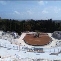 La copertura tecnologica del Teatro greco di Siracusa