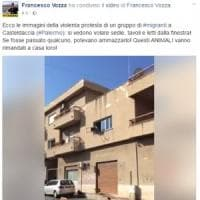 Protesta dei migranti a Casteldaccia, Vozza li insulta su Facebook