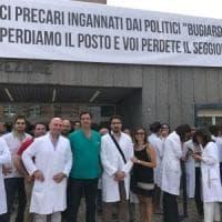 Sanità, social mob e sit in dei medici precari in tutta la Sicilia:
