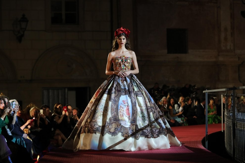 Palermo: la sfilata Dolce&Gabbana a piazza Pretoria