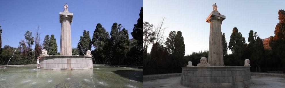 Palermo, senz'acqua la fontana d'Ercole inaugurata un anno fa
