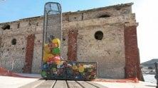 Arte contro la plastica a Favignana/ Foto