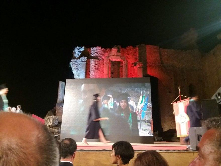 """Il """"Graduation day"""" al teatro di Taormina"""