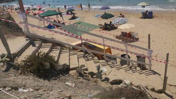Scala dei Turchi, cemento in spiaggia a due passi dall'ecomostro abbattuto