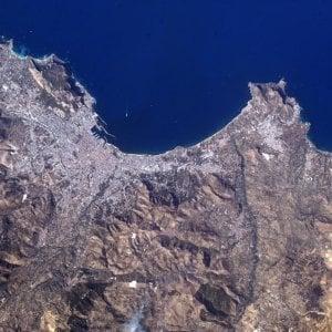 """Palermo vista dallo spazio nella foto di """"AstroPaolo"""""""