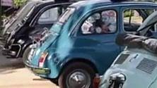 """Bolognetta: la sfilata  è in """"500"""", la piccola Fiat è sempre di moda"""