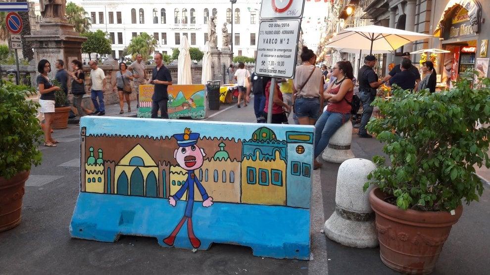 Palermo: i New Jersey antiterrorismo decorati dai bambini