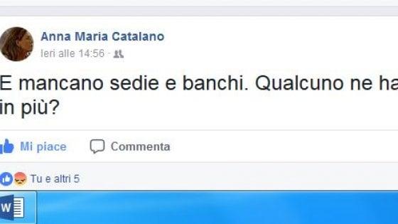 """Palermo, la preside scrive su Facebook: """"Mancano banchi e sedie, chi può aiutarci?"""""""