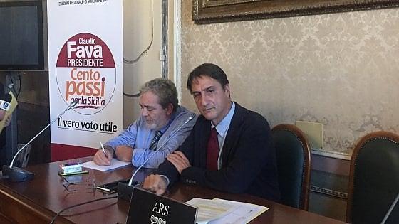 """Regionali Sicilia, Fava lancia la lista """"I cento passi"""" e mostra un sondaggio: """"Sono già secondo"""""""