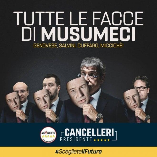 Regionali Sicilia, strategia 5 stelle: attacchi a Musumeci con slogan e campagne web
