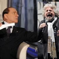 Grillo-Berlusconi: parte la guerra delle piazze, comizi contemporanei a