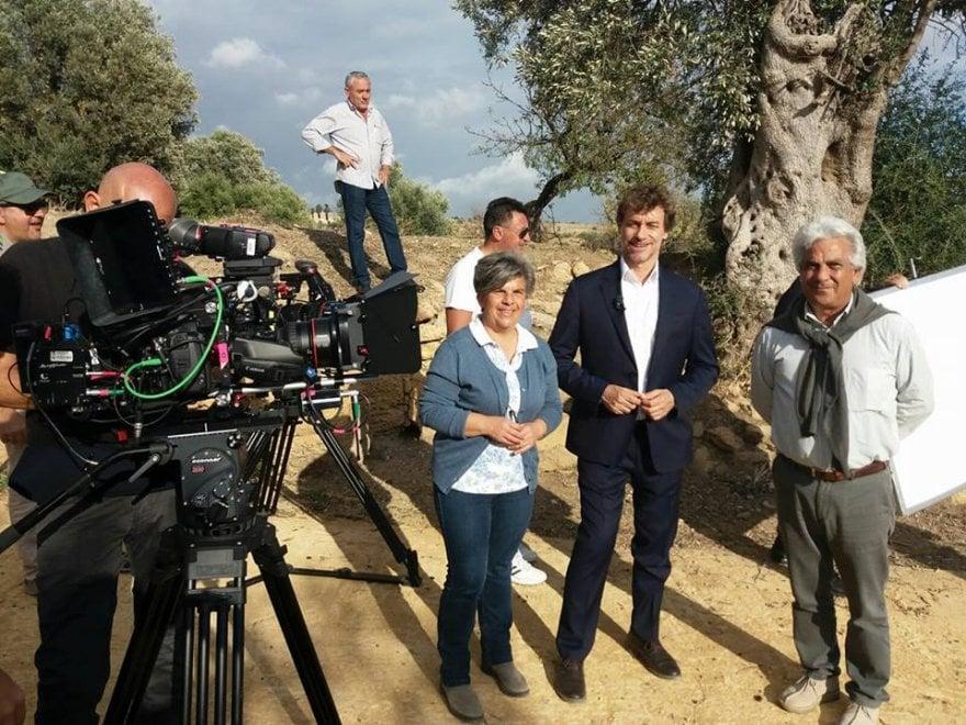 """Alberto Angela alla Valle dei Templi per la trasmissione """"Meraviglie, la Penisola dei tesori"""""""