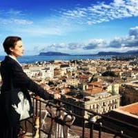 Palermo, uno sguardo dal Massimo: Micaela Ramazzotti sul set di Andò