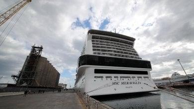 Palermo, in porto la MSC Meraviglia  foto  la più grande nave costruita in Europa