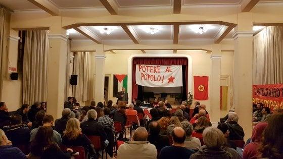 """Palermo, cinquanta sfumature di rosso: prima assemblea di """"Potere al popolo"""""""