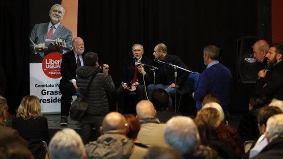 Grasso a Palermo per inaugurare il comitato Liberi e uguali