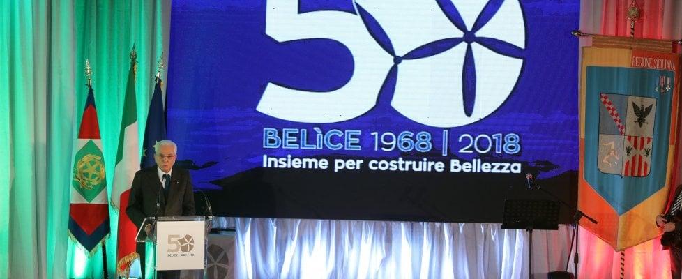 """Belice 50 anni dopo, ricordo con Mattarella: """"Con i sindaci per credere nel futuro"""""""