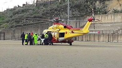 Grave incidente a Gangi. Un uomo trasportato al Civico con l'elisoccorso