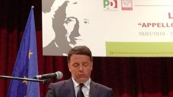 """Renzi a Caltagirone in memoria di don Sturzo. Crocetta: """"Sulle candidature rispetti la parola data"""""""