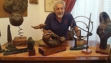 Palermo, l'artista cieco e le sue opere: