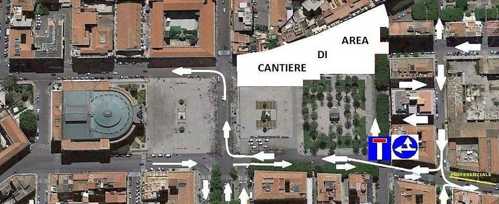 Palermo, via al cantiere per l'anello ferroviario in piazza Castelnuovo