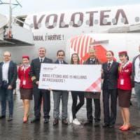 Volotea festeggia la 15milionesima passeggera, per lei voli gratis e una