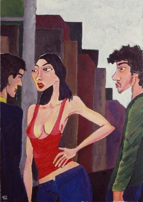 """I """"cuori scanazzati"""" di Gianni Allegra in mostra al Rouge et Noir"""