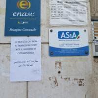 Palermo, in un patronato spunta il cartello:
