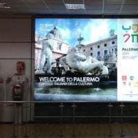 Palermo capitale della cultura, in aeroporto i primi cartelloni