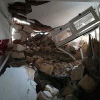 Erice: due case distrutte da una frana