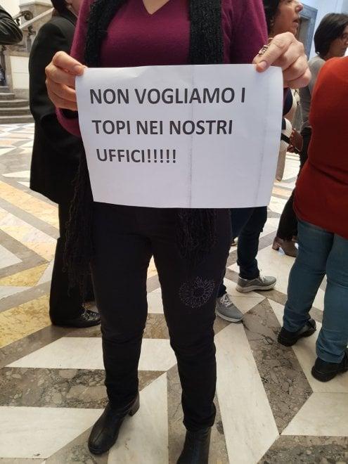 """""""No ai topi in tribunale"""": sit-in dei dipendenti a Messina"""