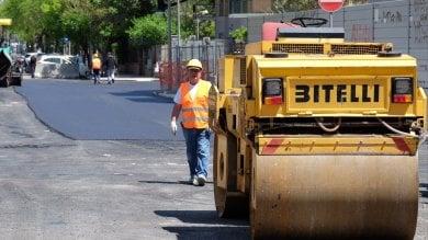 Palermo, torna l'asfalto in viale Lazio