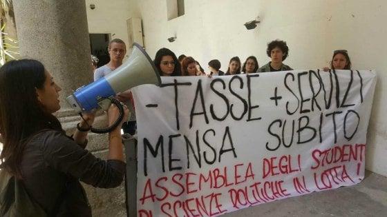 Palermo, niente mensa a Scienze politiche: gli universitari occupano un'aula