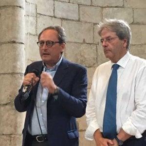 """Gentiloni a Messina a sostegno del candidato sindaco di centrosinistra: """"E' il momento di tornare a vincere"""""""