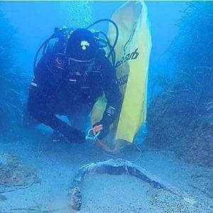 Messina, un'ancora romana scoperta dai carabinieri a Giardini Naxos