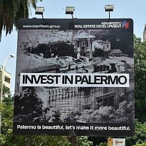 """""""Palermo è bella"""", lo slogan di Lima diventa un'installazione"""