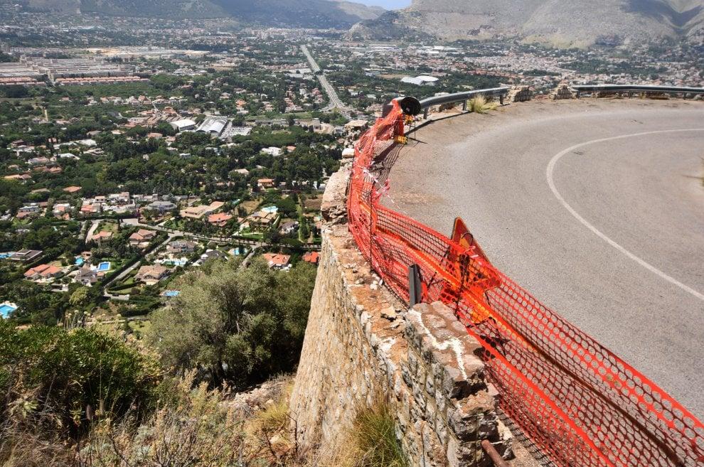 Monte Pellegrino: le immagini della strada della morte