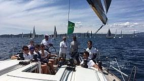 Cinque ragazzi palermitani   alla regata Giraglia Rolex cup