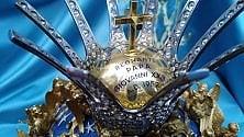 """Paternò, vista da vicino la corona religiosa  """"più preziosa del mondo"""""""