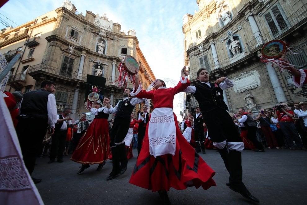 Palermo, aspettando il Festino con i Giganti di Mistretta
