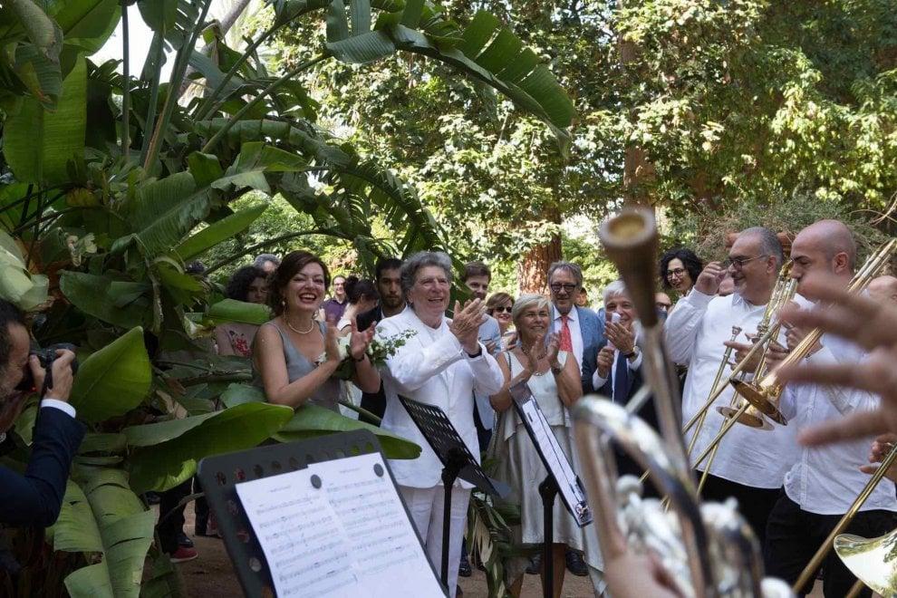 Palermo, le nozze del direttore d'orchestra Gabriele Ferro
