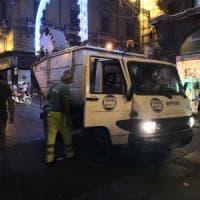 Le strade della città dopo il Festino: raccolte 40 tonnellate di rifiuti