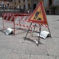 Palermo, danneggiate le basole di piazza Pretoria