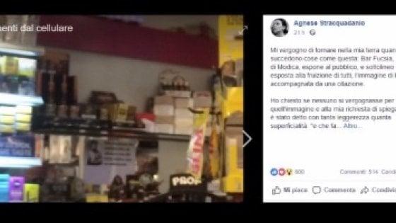 """Parla la ragazza che ha fatto rimuovere la foto di Mussolini a Modica: """"In Italia ventata di fascismo"""""""
