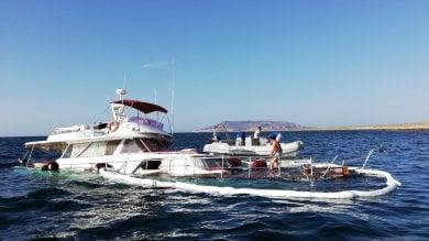 Favignana, yacht affonda a Punta Sottile   salvi i sette membri dell'equipaggio  Foto