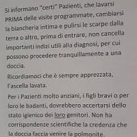 """Messina, avviso ai pazienti: """"Lavatevi le ascelle"""", bufera sul Policlinico"""