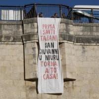 Ragusa, provocazione antirazzista alla festa del patrono (nero):