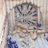 Passante ferroviario, finiti gli scavi nel tunnel Notarbartolo