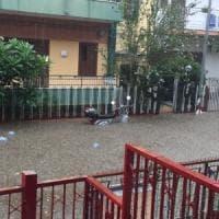 Palermo: temporale a Mondello, allarme allagamenti